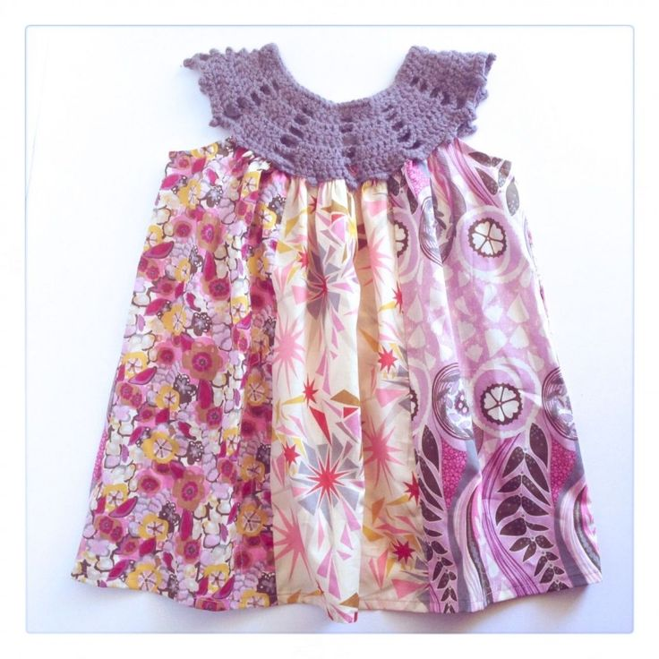 Making Stuff: Patchwork Dress with Crochet Yoke {fat quarter project}