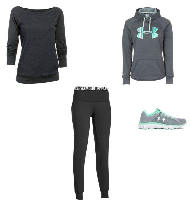 """""""Under Armour Outfit"""" by amilne-10 ❤ liked on Polyvore featuring Under Armour, women's clothing, women's fashion, women, female, woman, misses and juniors"""