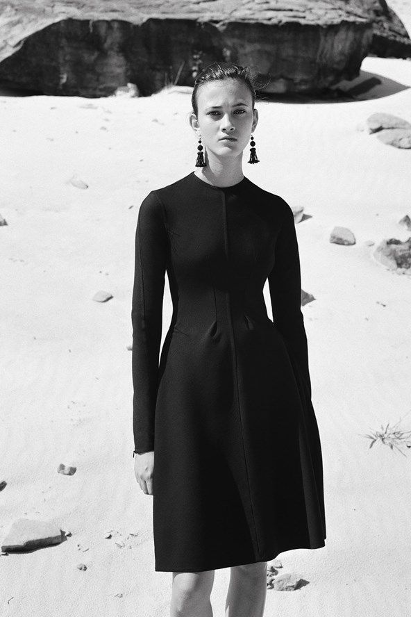 Simplicity - understated black dress; minimal fashion; chic minimalist style // Celine Pre Fall 2016