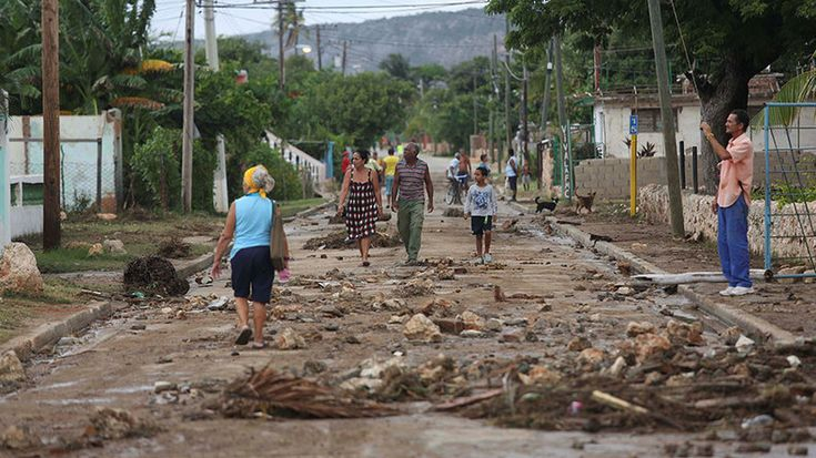 Hurricane Matthew has reached Cuba just hours after flattening homes and leaving a trail of destruction in Haiti. The eye of the storm slammed the country with sustained winds of around 140 mph (225kph).