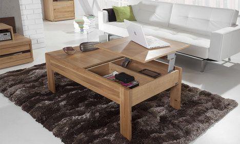Konferenční stůl z řady VOL 64 je vyroben z kvalitního bytelného dubového dřeva. Design je minimalistický, leč přizpůsobivý všem formám a stylům. Stůl disponuje výklopnou deskou a skrývá praktické zásuvky otevíratelné pouhým dotykem, cena 12 230 Kč; Nejlepší nábytek