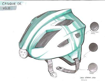 "Check out new work on my @Behance portfolio: ""Casque de vélo"" http://be.net/gallery/46747275/Casque-de-vlo"