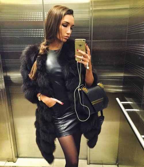 Leather dress slut