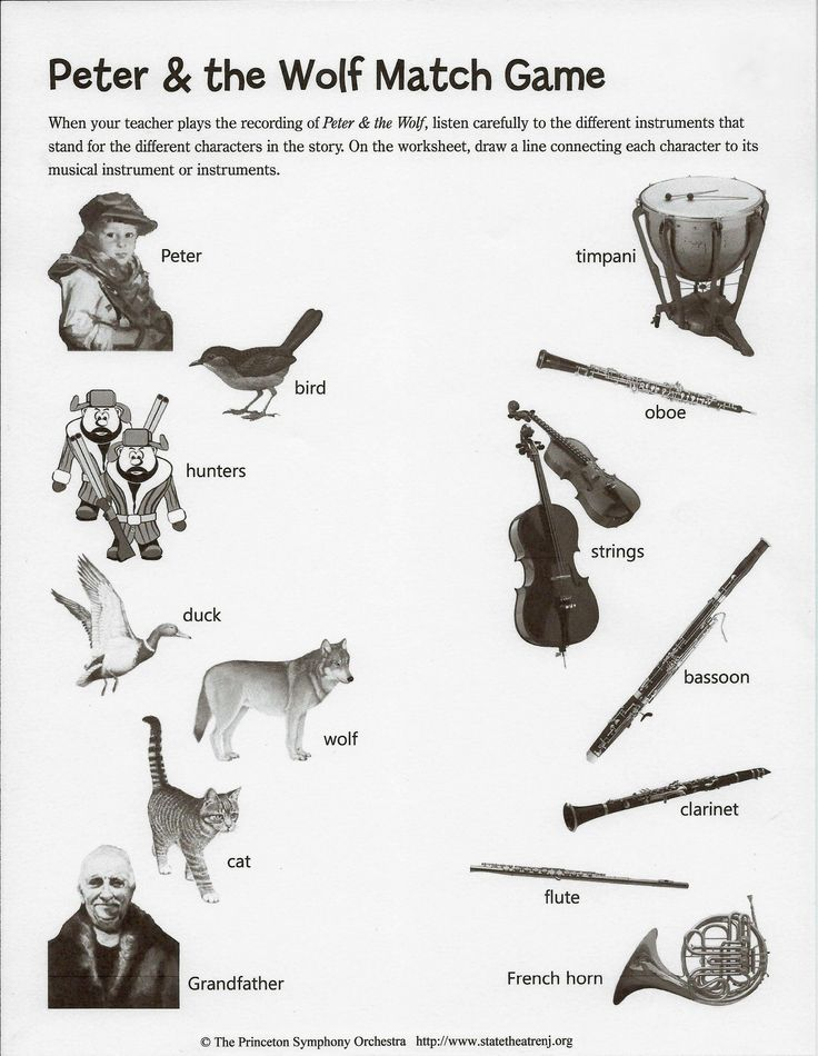 10 best images about montessori music peter and the wolf on pinterest peter wolf paper. Black Bedroom Furniture Sets. Home Design Ideas