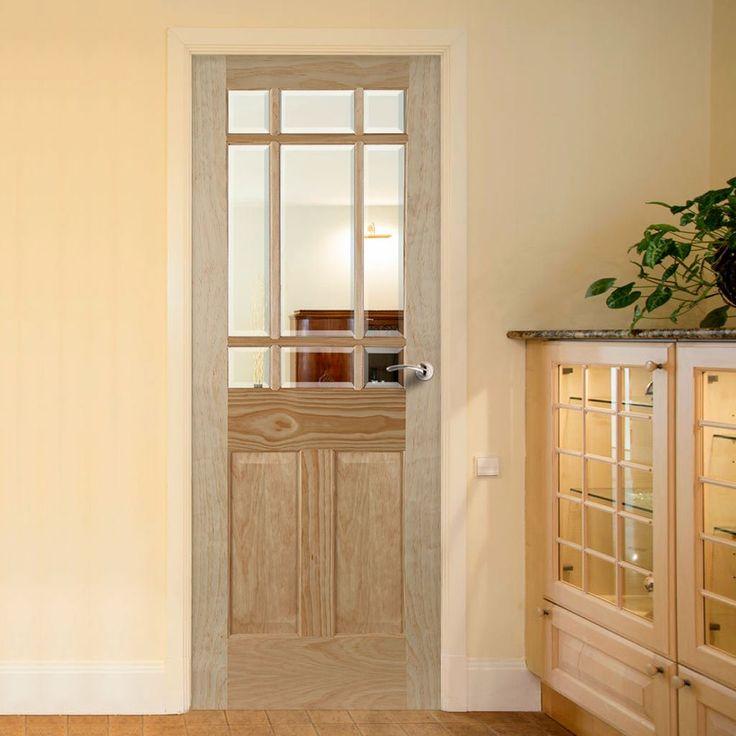 Warwick Radiata Pine Door with Bevelled Clear Glass & 58 best P M MENDES Internal Doors images on Pinterest | Internal ... Pezcame.Com