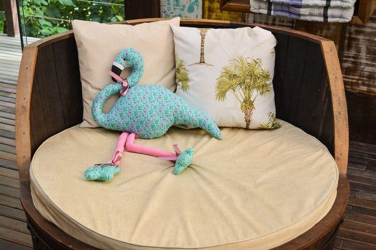Фламинго, выкройка подушки