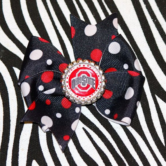 Ohio State Buckeyes Hair Bow by MegansHairCandy on Etsy, $5.00