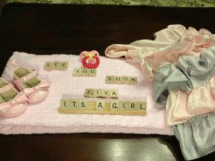 17 best ideas about Baby Gender Announcements – Scrabble Baby Announcement