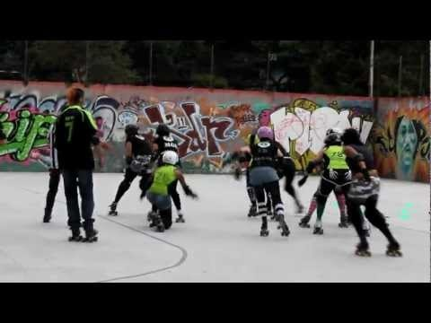 Roller Derby Colombia, Bogota bone Breakers. Video