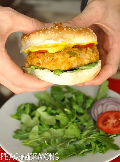 Lots of delicious ingredients in these Sweet Potato Chickpea Burgers to give a different flavor for you to try! www.PersonalTrainerBradenton.com