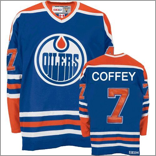 650e49758 ... Authentic Paul Coffey Royal Blue Mens NHL Jersey 7 Throwback Edmonton  Oilers CCM ...