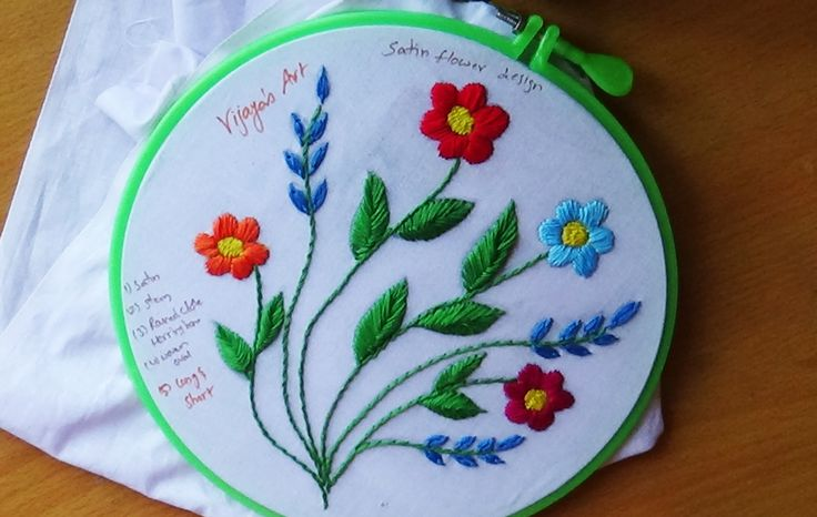 This video channel contains lot of Hand Embroidery work designs & paper craft designs.Today we know the simple & easiest hand Embroidery work is Satin stitch...