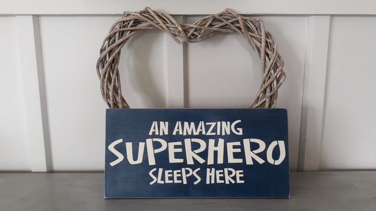 An amazing Superhero sleeps here from  French Pear designs on FB
