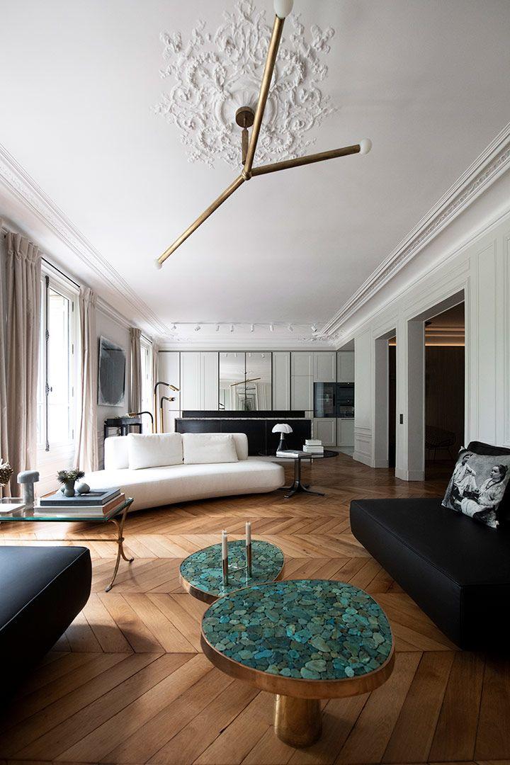 Renovation D Un Appartement A Paris 7 Architecte Interieur Deco Appartement Deco Maison
