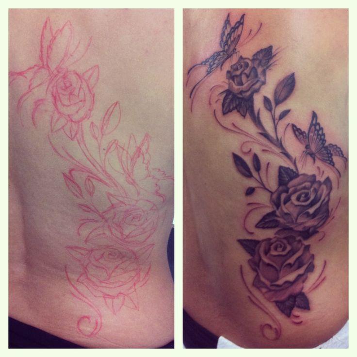 Freehand Roses #fredraph #black #tattooartist #artwork #fineline