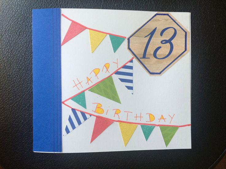 personalized card teens B-day