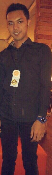 Me on black costue