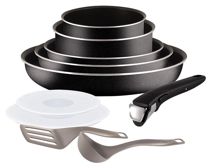Tefal L2009802 Set de poêles et casseroles - Ingenio 5 Essential Noir Set 10 Pièces - Tous feux sauf induction: Amazon.fr: Cuisine & Maison