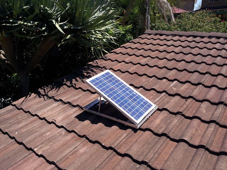 SolarWhiz unit on tiles #solair