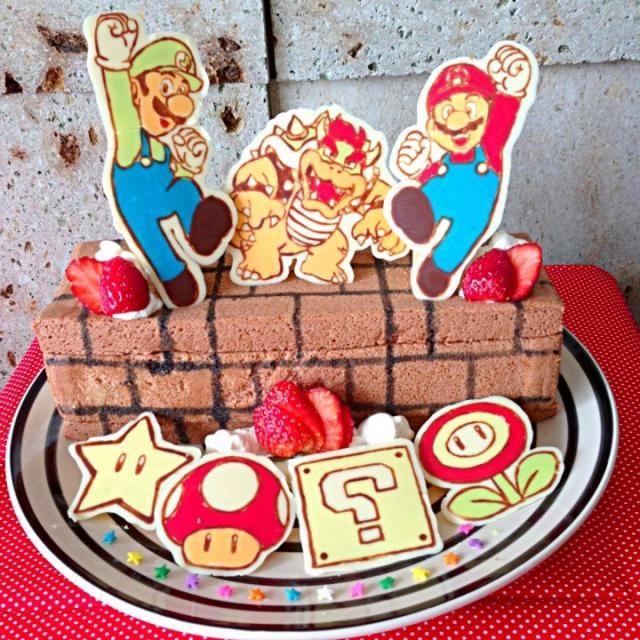 次男の3歳のバースデーケーキです。 ブロックは四角いロールケーキです!ヽ(≧▽≦)ノ - 74件のもぐもぐ - スーパーマリオケーキ! by ザッキー☆