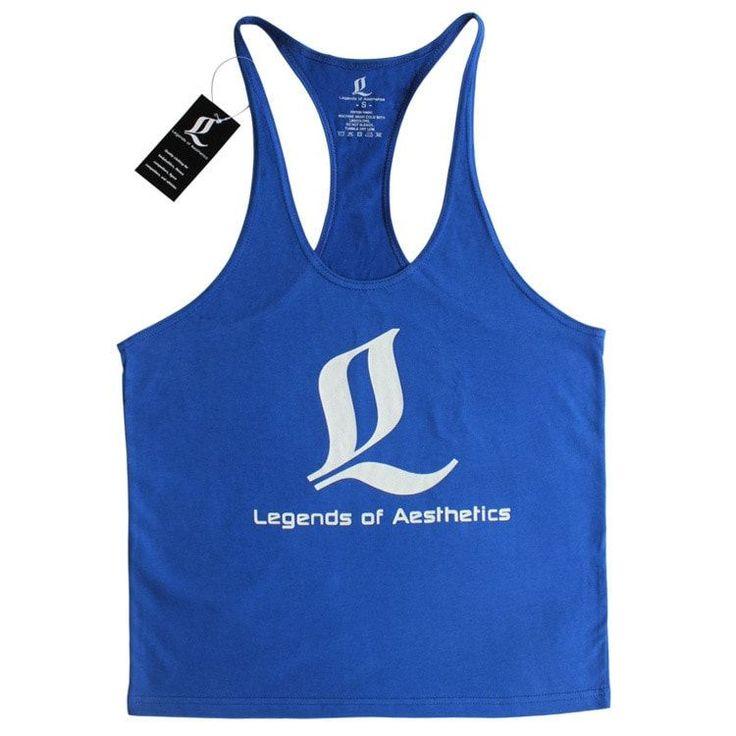 LOA Golds Gym Tank Mens Bodybuilding Undershirt Tanks