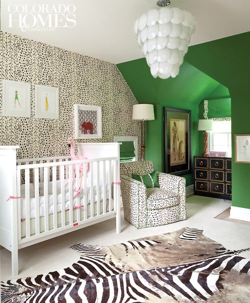 What a nursery!! Designer Amy Corrigan's Cherry Hills cottage, Denver.