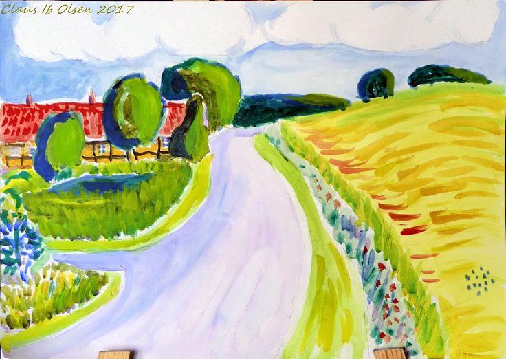 Ennebøllegård - Watercolor - 2017