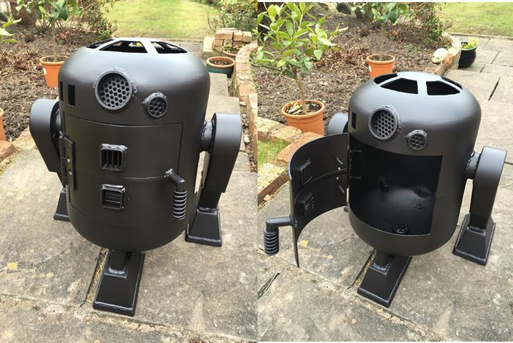 Log / Wood Burner - An R2D2 inspired wood burner made by from an old 13kg gas bottle.