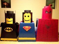 Finished LEGO Superhero Halloween costumes