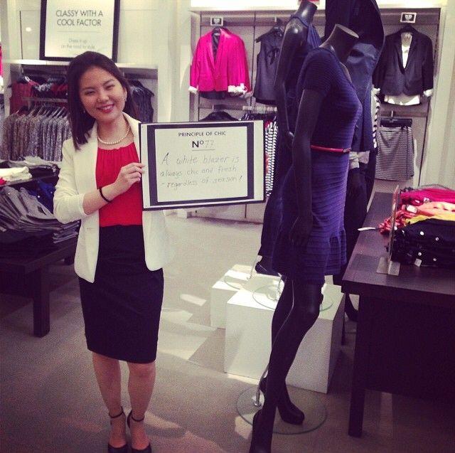 Leçon de chic de Marge Han de notre boutique à Bloor Street. / Principle of chic of Marge Han from our Bloor Street Store