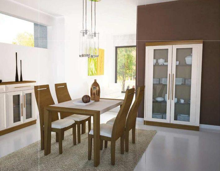 Conjunto de extensible sillas aparador y vitrina for Muebles vila de cambre