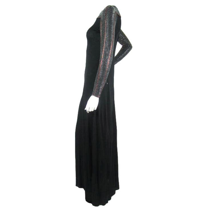 Murray Arbeid 1970's Beaded Jersey Gown