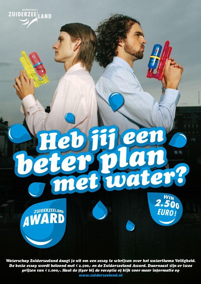 Simons en Boom: Poster, Campagne Waterschap Zuiderzeeland - Zuiderzeeland Award 2006