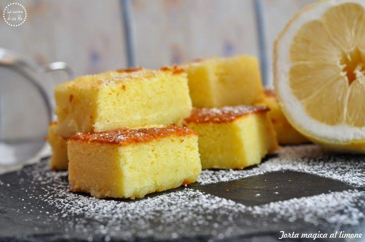 Torta magica al limone. Torta magica senza glutine. | La cucina di zia Ale