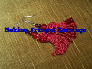 A Pretty Talent Blog: Fringed Earrings
