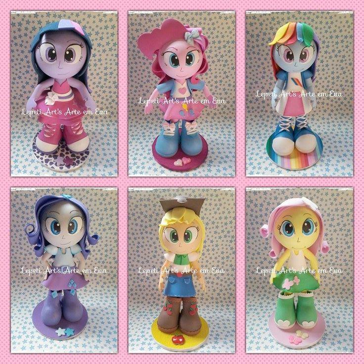 Fofucha+em+EVA+para+decoração+de+festa+<br>Tema+My+Little+Pony+Equestria+Girls