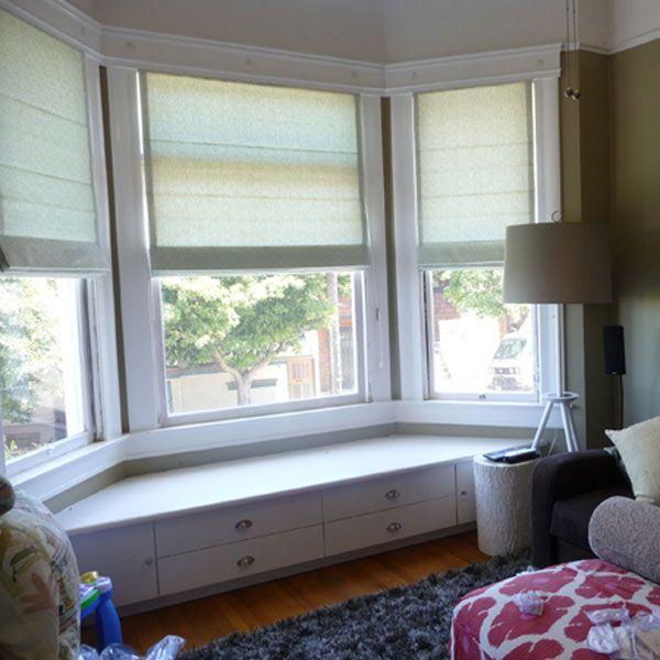 25 best bow window treatments ideas on pinterest for Blinds for bow windows ideas