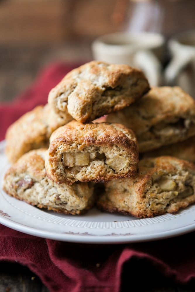 Apple-Pecan Whole Wheat Scones. These sound so delicious and ...