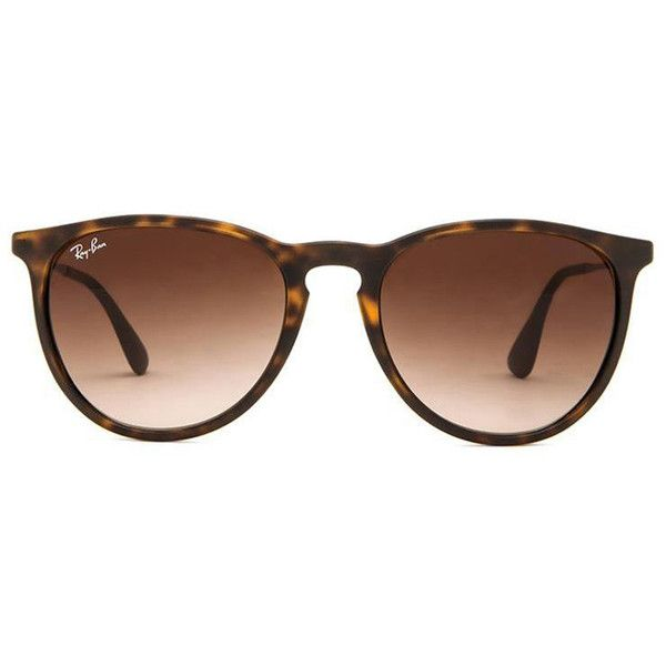 Ray-Ban Erika ($140) ❤ liked on Polyvore featuring accessories, eyewear, sunglasses, glasses, acessorios, ray ban sunglasses, ray ban sunnies, ray ban glasses, acetate sunglasses and acetate glasses