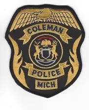 Coleman MI Michigan Police Dept. LEO patch - NEW!
