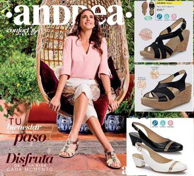 Catalogo de zapatos Andrea confort verano 2016