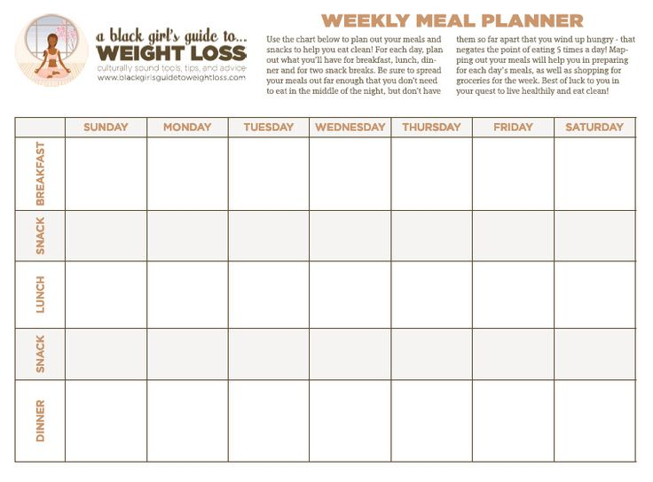 The BGG2WL Food Chart. I LOVE this chart. It helps me plan out my meals for the week to keep me on track with my clean eating.