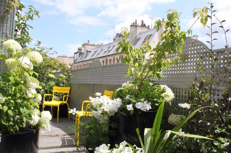 Treillage on terrace