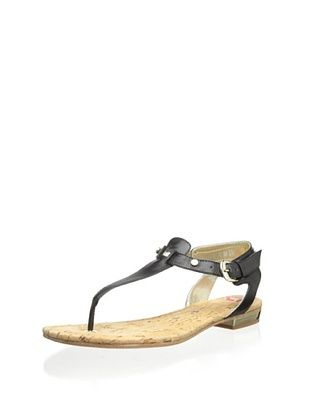 60% OFF Elaine Turner Women's Mara Thong Sandal (Black)