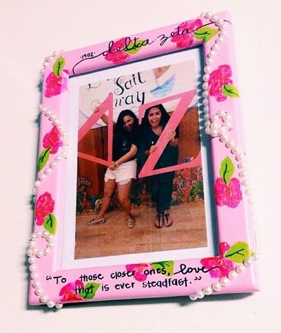cute & crafty picture frame ♥