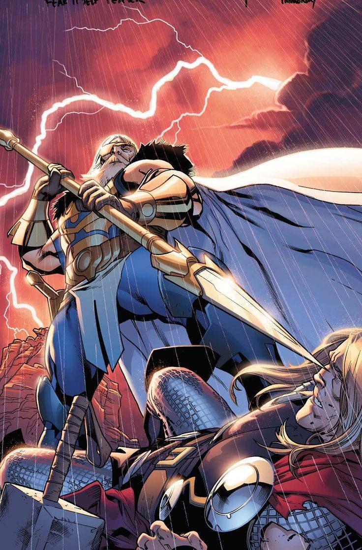 Odin vs Thor by Stuart Immonen   Comics, Super Heroes ...