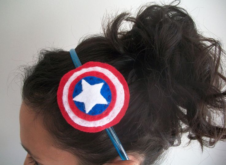 Going felt crazy!  Captain America shield headband available here.