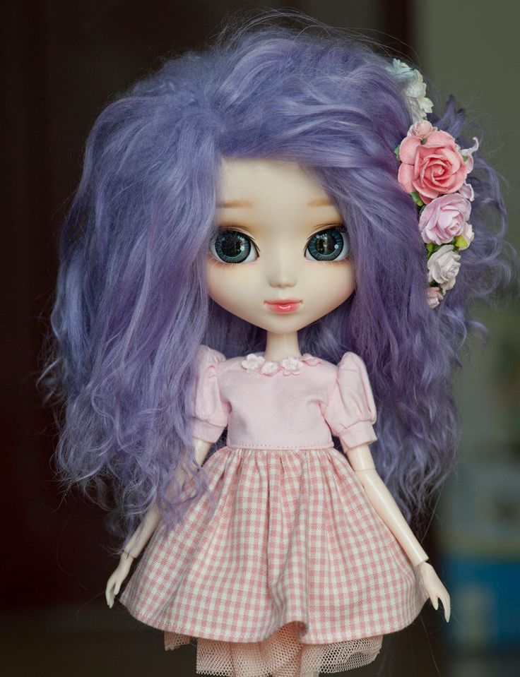 1/3 Size Short Purple Wavy Tibetan Mohair Wig for Volks BJD SD MSD Pullip and Rosenlied Holiday Dolls by natrume on Etsy https://www.etsy.com/listing/240929474/13-size-short-purple-wavy-tibetan-mohair