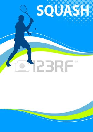 図 - スカッシュ スポーツ ポスター