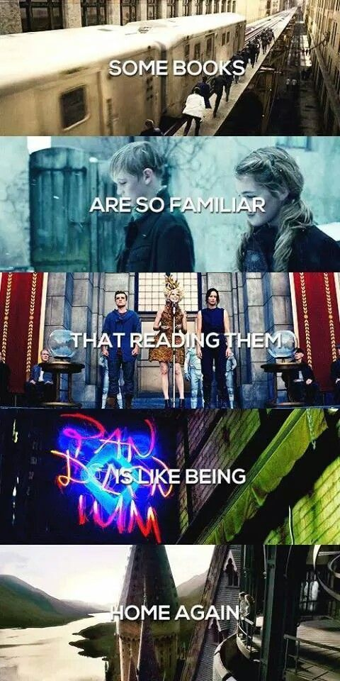 book, harry potter, and hunger games image